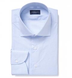 Madison Light Blue Fine Grid Custom Made Shirt