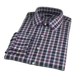 Vincent Pine and Violet Plaid Dress Shirt