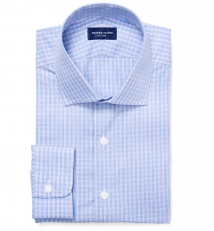 Astor Red on Blue Check Dress Shirt