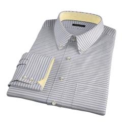 Albini Blue Yellow Horizon Stripe Fitted Shirt