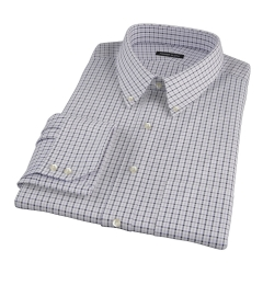 Canclini Grey and Black Multi Gingham Men's Dress Shirt