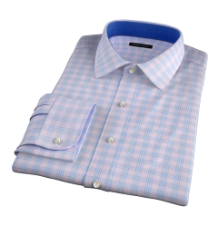 Alassio Pink End on End Check Fitted Dress Shirt