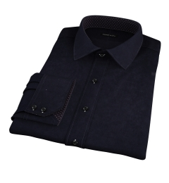 Black Heavy Oxford Dress Shirt
