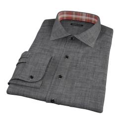 Black Denim Custom Dress Shirt