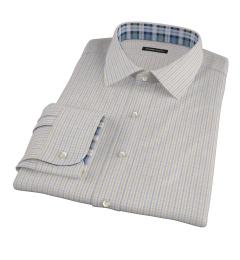 Yellow Davis Check Custom Dress Shirt