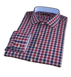 Vincent Crimson and Navy Plaid Tailor Made Shirt