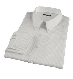 Lavender Grey Dobby Stripe Custom Made Shirt