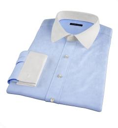 Thomas Mason Light Blue Royal Oxford Custom Dress Shirt