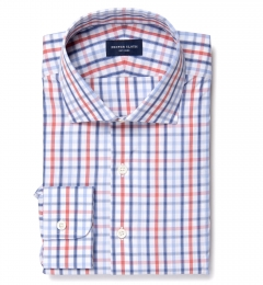 Catskill 100s Crimson Multi Check Men's Dress Shirt