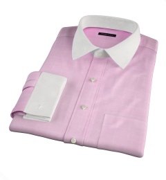 Thomas Mason Pink Prince of Wales Check Custom Dress Shirt