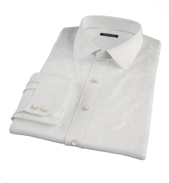 White 100s Herringbone Tailor Made Shirt