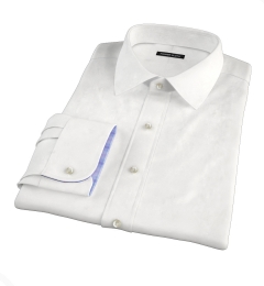 Hudson White Wrinkle-Resistant Twill Dress Shirt