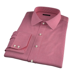 Vestry Red Mini Gingham Tailor Made Shirt