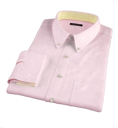 Thomas Mason Pink Luxury Broadcloth Custom Dress Shirt