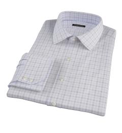 Thomas Mason Brown Multi Check Dress Shirt