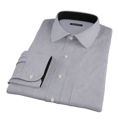 Carmine Black Pencil Stripe Custom Dress Shirt