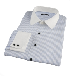 Rye Light Blue Bordered Stripe Men's Dress Shirt