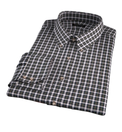 Lorimer Green and Orange Plaid Dress Shirt