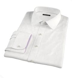 Mercer White Broadcloth Men's Dress Shirt