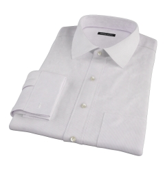 Carmine Purple Fine Stripe Dress Shirt