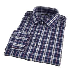 Vincent Slate and Pink Plaid Custom Dress Shirt
