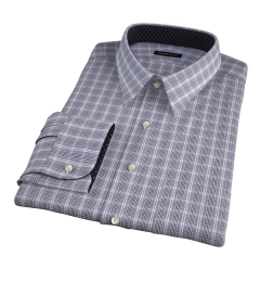 Wrinkle Resistant Black Prince of Wales Check Custom Made Shirt