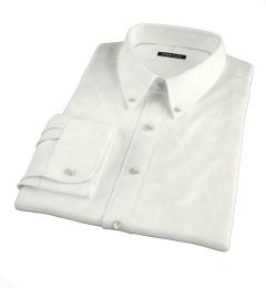 Canclini Cream Beacon Flannel Custom Dress Shirt