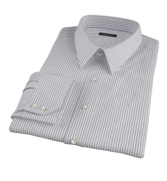 Canclini Black Stripe Fitted Dress Shirt