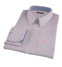 Pink Rainbow Stripe Pinpoint Custom Made Shirt