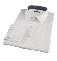 White Wrinkle Resistant 80s Broadcloth Men's Dress Shirt