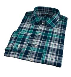 Dorado Green Plaid Fitted Shirt