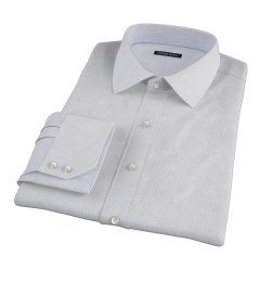 Canclini Grey Melange Grid Men's Dress Shirt