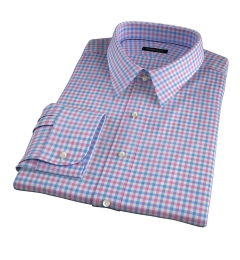 Thomas Mason Hibiscus Multi Check Fitted Dress Shirt