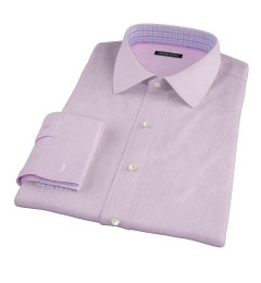 Canclini Pink Mini Gingham Dress Shirt