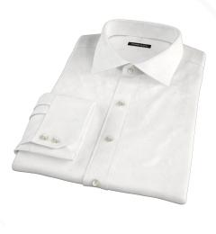 Thomas Mason White Wrinkle-Resistant Twill Custom Made Shirt