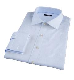 Hudson Light Blue Wrinkle-Resistant Twill Fitted Dress Shirt