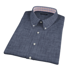 Japanese Dark Indigo Chambray Short Sleeve Shirt