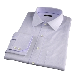 Lazio 120s Lavender Multi Grid Fitted Dress Shirt
