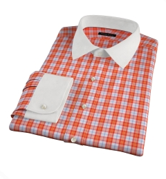 Varick Orange Multi Check Custom Made Shirt