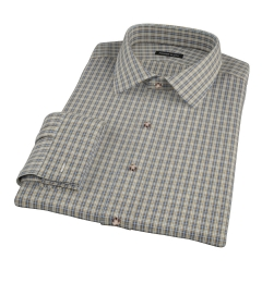 Honey Glazed Oxford Cloth Fitted Dress Shirt