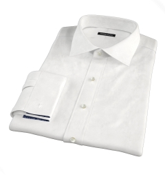 White Stretch Broadcloth Men's Dress Shirt