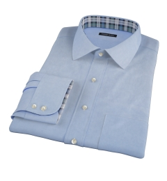 Blue 100s Twill Custom Made Shirt