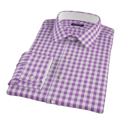 Lavender Large Gingham Tailor Made Shirt
