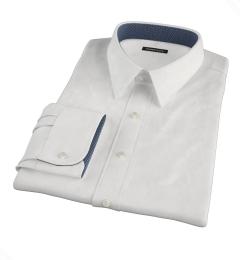 White 100s Pinpoint Custom Made Shirt