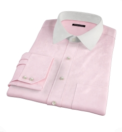 Canclini Pink End on End Fitted Dress Shirt