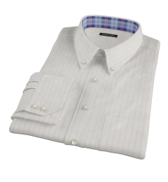 Light Pink Satin Stripe Fitted Shirt