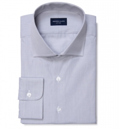 Canclini 120s Grey End on End Men's Dress Shirt
