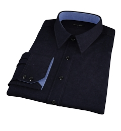Thomas Mason Black Luxury Broadcloth Custom Dress Shirt