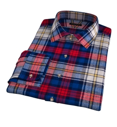 Red and Blue Plaid Country Flannel Tailor Made Shirt