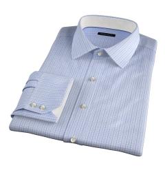 Jones 120s Blue Multi Check Custom Made Shirt